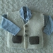100% Hand Knitted Wool Vest 9-12 months