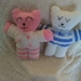 Babies First Teddy Bear Hand Knitted