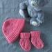 Hand Knitted 100% Merino Hat & Socks - Newborn