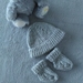 Hand Knitted 100% Merino Hat & Socks - Newborn