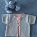 100% Merino Tie Front Cardi 3-6 Months