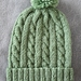 100% Merino Cable Beanie with Pom Pom - 3-6 months