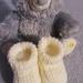 100% NZ Merino Booties-Newborn-3 months-Cream