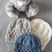 Hand knitted 100%  merino beanies -Newborn