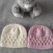 Hand Knitted 100% Merino Beanies 0-3 months