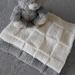 100% Merino Hand Knitted Baby Blanket -White