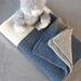 Merino Hand Knitted Baby Blanket