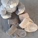 Hand Knitted Baby Merino Socks 3-6 months