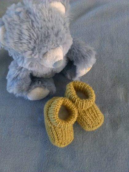 100% NZ Merino Booties-Newborn-3 months