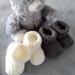 100% Merino Knitted Booties- 0-3 months Cream & Mocha