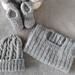 100% Merino Hand Knitted Beanie, Singlet & Booties