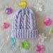 Babys First Beanie- 100% Merino Wool -Orchid