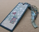 Hand painted bookmark - Home is Where the Books Are
