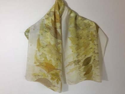 Silk scarf - naturally dyed