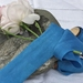 1.7m plant-dyed silk ribbon - Electric Blue