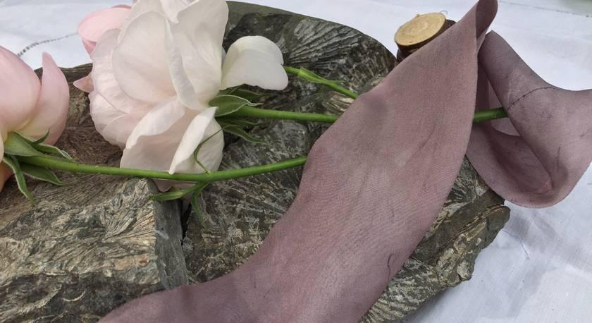 3m plant-dyed silk ribbon - Lavender
