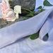 Plant-dyed silk ribbon - Periwinkle