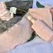 Plant-dyed silk ribbon 3m - Rose Blush