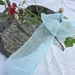 Plant-dyed silk ribbon 5m - Baby Blue