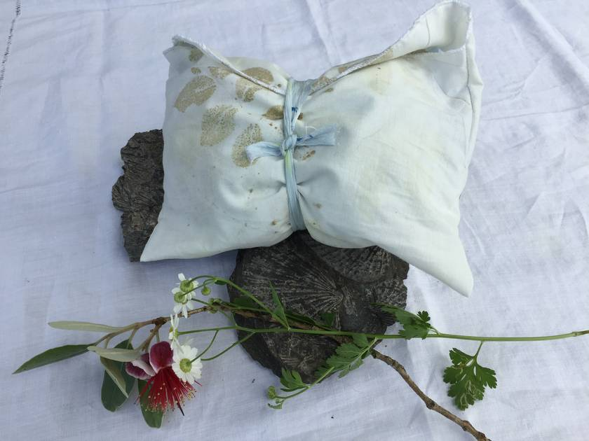 Offcut silk ribbons and scraps - shades of blue and grey