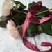 Plant-dyed recycled sari silk ribbon 5m - Raspberry Crush