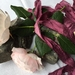 Plant-dyed recycled sari silk ribbon 5m - Grape
