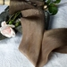 Plant-dyed silk ribbon 3m - Caramel Coffee
