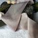 Plant-dyed silk ribbon 3m - Ash
