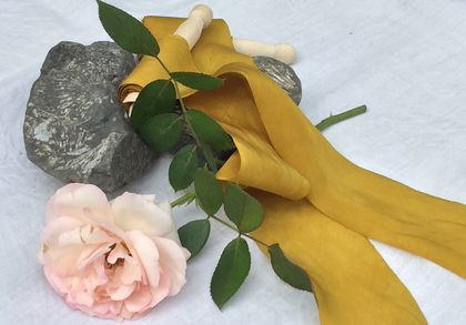 Plant-dyed silk ribbon 5m - Marigold