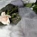 5m plant-dyed recycled silk chiffon ribbon - Silver Cloud