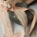 BALLET SHOES plant dyed recycled sari silk ribbon 5m