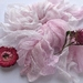 PETAL pink plant-dyed recycled silk chiffon ribbon, 5m