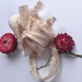 PETAL pink plant-dyed recycled sari silk ribbon, 5m