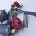DENIM DREAMS blue plant-dyed recycled sari silk ribbon, 5m