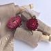 MUSHROOM plant-dyed/hand-dyed pure silk ribbon, 3.8cm x 5m