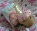 Cupcake Pin cushion sewing kit, size large.
