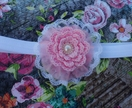 crochet flower layered lace flower
