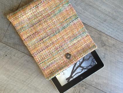 Tablet Sleeve iPad, Kindle Fire HD, Galaxy Tab Handwoven Fabric Cover