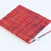 Red Notebook with Paper Raffia Handwoven Cover