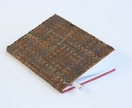 Notebook with Paper Raffia Handwoven Cover - Chocolate Brown