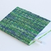 Green Notebook with Paper Raffia Handwoven Cover