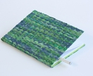 Notebook with Paper Raffia Handwoven Cover - Green
