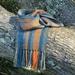 Orange Diamond Alpaca Scarf
