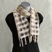 Lightweight Gold Mohair Scarf with Black and Gold Flecks
