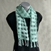 Aqua Scarf with Black and Silver Flecks