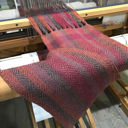 Burnt Sienna Diamond Alpaca Scarf