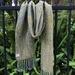 Olive Green Silk Merino Handwoven Scarf