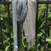 Dark Grey & Green Silk Merino Handwoven Scarf