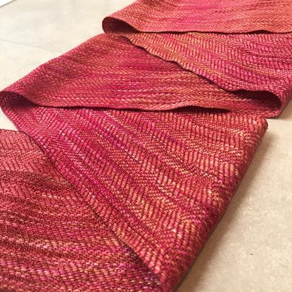 Magma Earth Silk Merino Handwoven Scarf