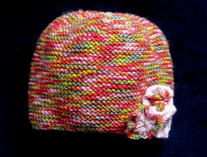 Girls rainbow hat size 1-2yrs